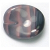 Glass Bead Twist Oval 16x13mm Rose Stripe Strung